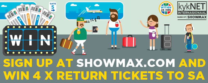 Win four return tickets to South Africa with kykNET International on ShowMax