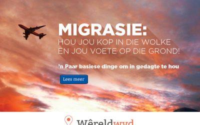 Migrasie: Hou jou kop in die wolke en jou voete op die grond!