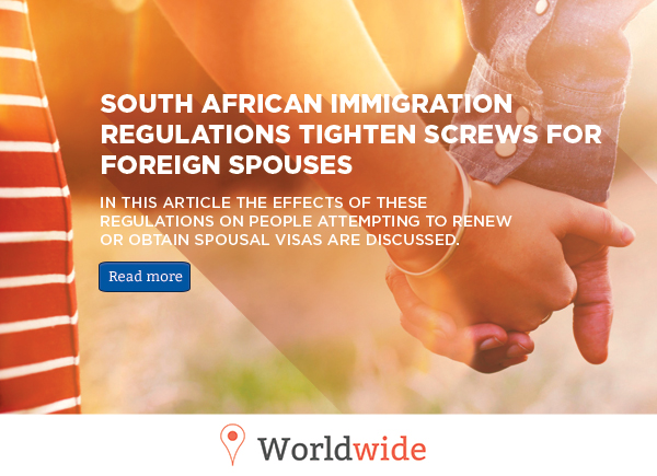 South African immigration regulations tighten screws for foreign spouses