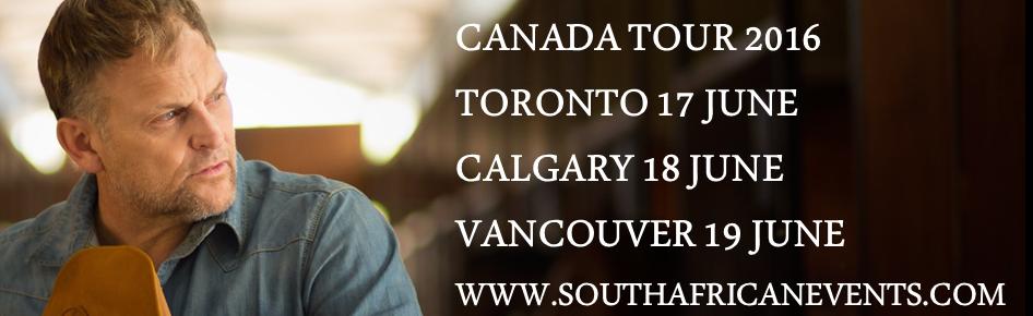 STEVE HOFMEYR IN CANADA 2016