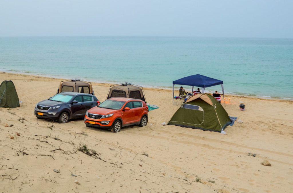 Beach camping – Oman: Al Sifah