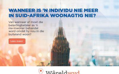 Wanneer is 'n individu nie meer in Suid-Afrika woonagtig nie?
