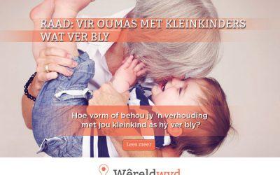 Vir oumas met kleinkinders wat ver bly