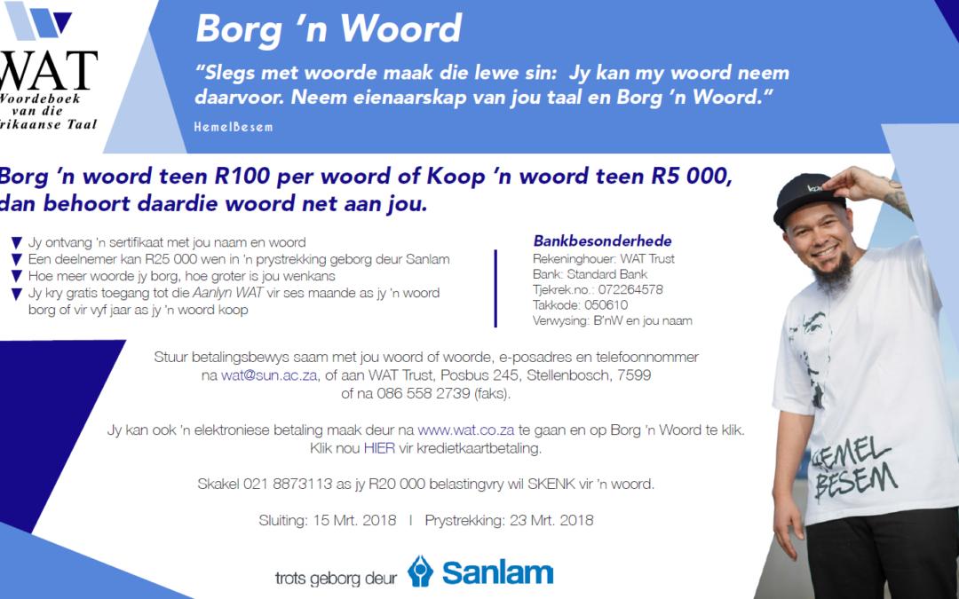 WAT: Borg 'n Woord