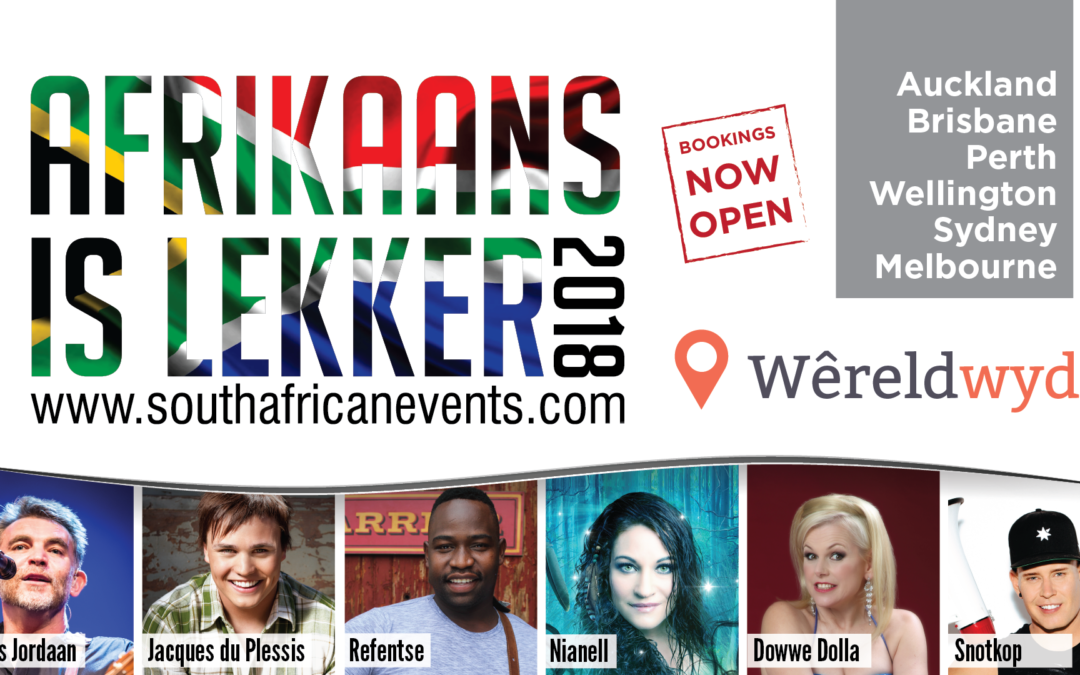 "Worldwide brings ""Afrikaans is Lekker"" to Australia and New Zealand"