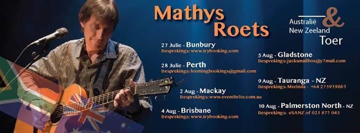 Mathys Roets in Australië en Nieu-Seeland