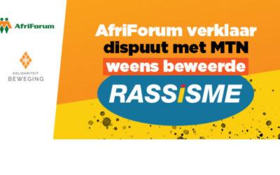 AfriForum verklaar dispuut met MTN weens beweerde rassisme