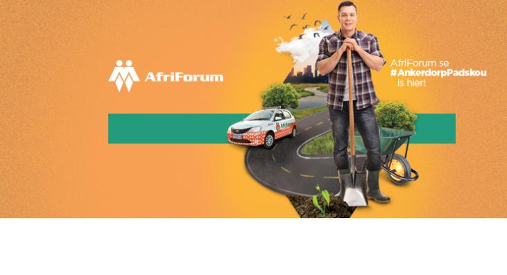 AfriForum neem sy #AnkerdorpPadskou na George