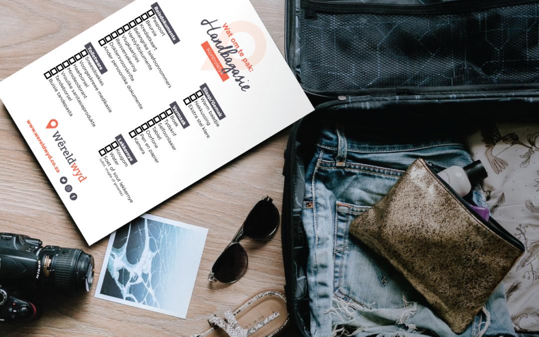 Wat om te pak: Handbagasie