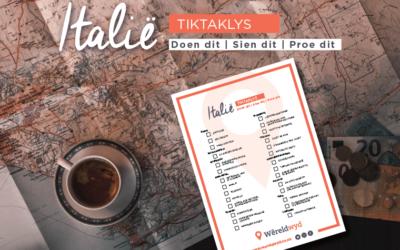 Tiktaklys: Italië – Sien dit, Doen dit, Proe dit