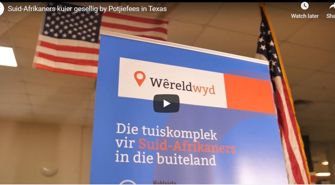 Suid-Afrikaners kuier gesellig by Potjiefees in Texas